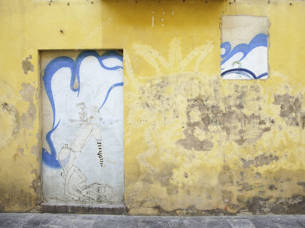 Decorative detail on a wall in the city of Logroño — Stock Photo #10225429