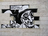 Angouleme,France-April 08:Wall painting in the city of graffiti. — Stock Photo