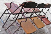 Vintage chairs — Stock Photo