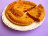 Galician tunny pie — Stock Photo