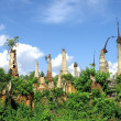 Stock Photo: Ruined pagodas