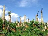 Ruined pagodas — Stock Photo