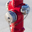 Stock Photo: Red fire hydrant
