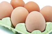 Eggs on white background — Stock Photo
