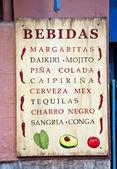 Cartel de diferentes bebidas — Foto de Stock