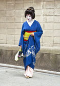 Geisha in Gion district in Kyoto, Japan — Stock Photo