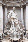 Detail of the main statue of the Trevi Fountain in Rome, Italy. — Stockfoto