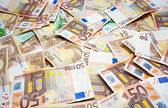 Bills 50 and 100 euros — Foto de Stock
