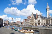 Ghent Canal,Belgium — Stock Photo