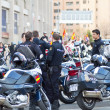 Постер, плакат: Police in the soccer match at the Vicente Calderon