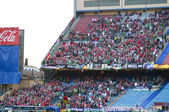 Vicente Calderon soccer stadium, Madrid — Stock Photo