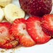 Stock Photo: Strawberry and banana