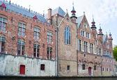 Budynki w brugii, belgia — Zdjęcie stockowe