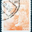Stamp Collection Spain - Stok fotoraf