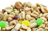 Nuts on white background — 图库照片