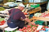 Worker at Kyoto market — Stock Photo