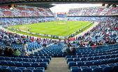 Vicente Calderon soccer stadium, Madrid — Stock Photo