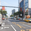 Traffic in the Ginza district in Tokyo, Japan — Stock Photo