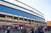Outside the stadium Vicente Calderon, Madrid, Spain — Foto de Stock