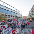 Постер, плакат: Outside the stadium Vicente Calderon Madrid Spain