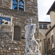 Statues in the Piazza della Signoria, Florence. — Stock Photo