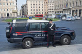 Carabinieri in Piazza Venezia — Stock Photo