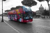 Bus tour of Rome, Italy — Stock Photo