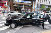 Japanese taxi — Stock Photo