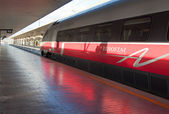 Frecciargento waiting train station in Florence — Stock Photo