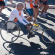 Disabled athletes in wheelchairs in the Run for Food race in Rome — Stock Photo