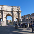Stock Photo: RomColosseum and Arch of Constantine in Rome, Italy