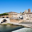 Tiberina Island in Rome, Italy — Stock Photo
