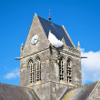 Church of Sainte-Mère-Église — Stock Photo