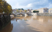Tiber River in Rome, overwhelmed — Stock Photo