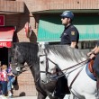 Police at the Vicente Calderon — Stock Photo