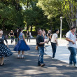 Japanese dancing in Yoyogi Park, Japan - Stockfoto