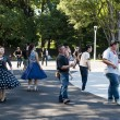 Japanese dancing in Yoyogi Park, Japan - Stock Photo