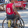 Men's Wheelchair Basketball Action — Stock Photo