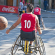 Stock Photo: Men's Wheelchair Basketball Action