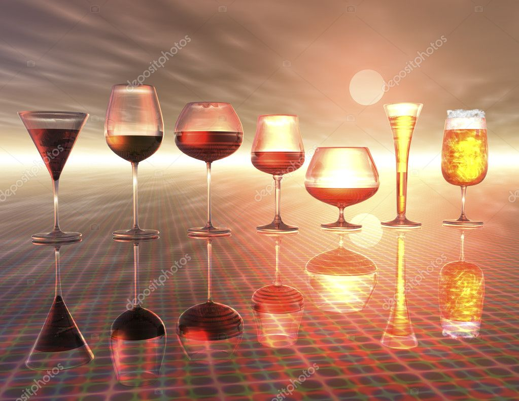 Digital Visualization of Drinks — Stock Photo #10058407