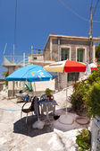 Sunshades on Samos — Stock Photo
