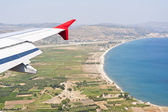 Aerial image of greek island Samos — Stock Photo