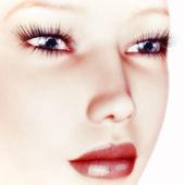Digitale Visualisierung eines Gesichts — Stockfoto