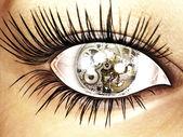 Digital visualization of an eye — Stock Photo
