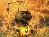 Místo pro ohniště — Stock fotografie