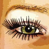 цифровая визуализация глаза — Стоковое фото