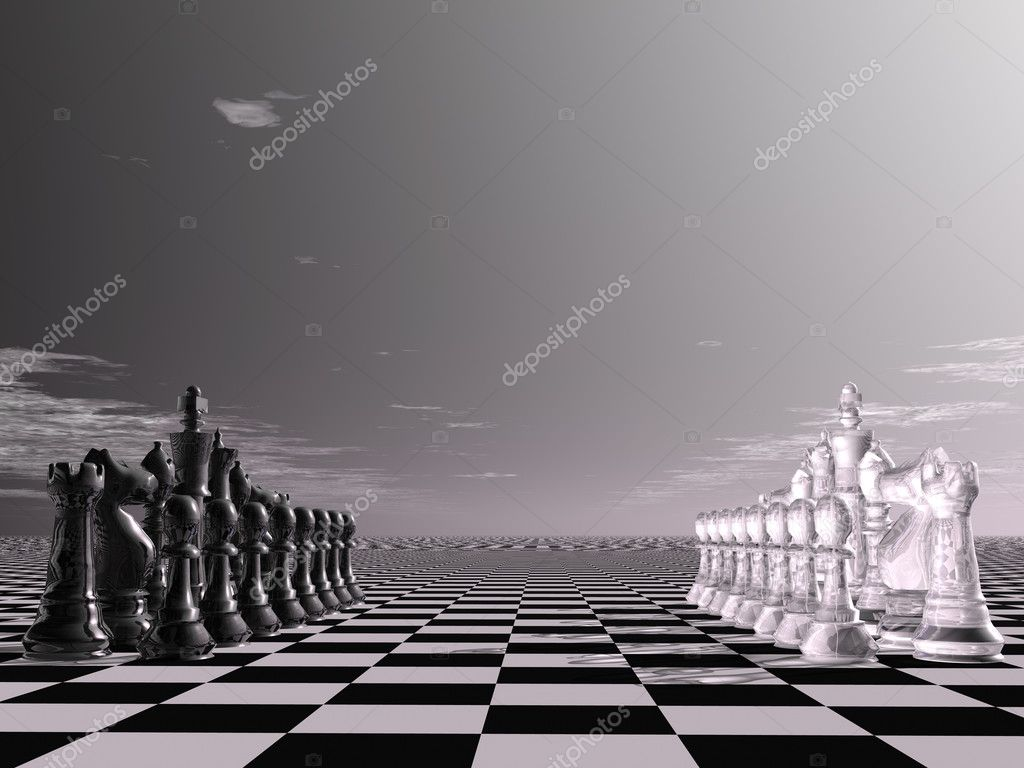 Digital visualization of a chessboard — Stock Photo #10093531