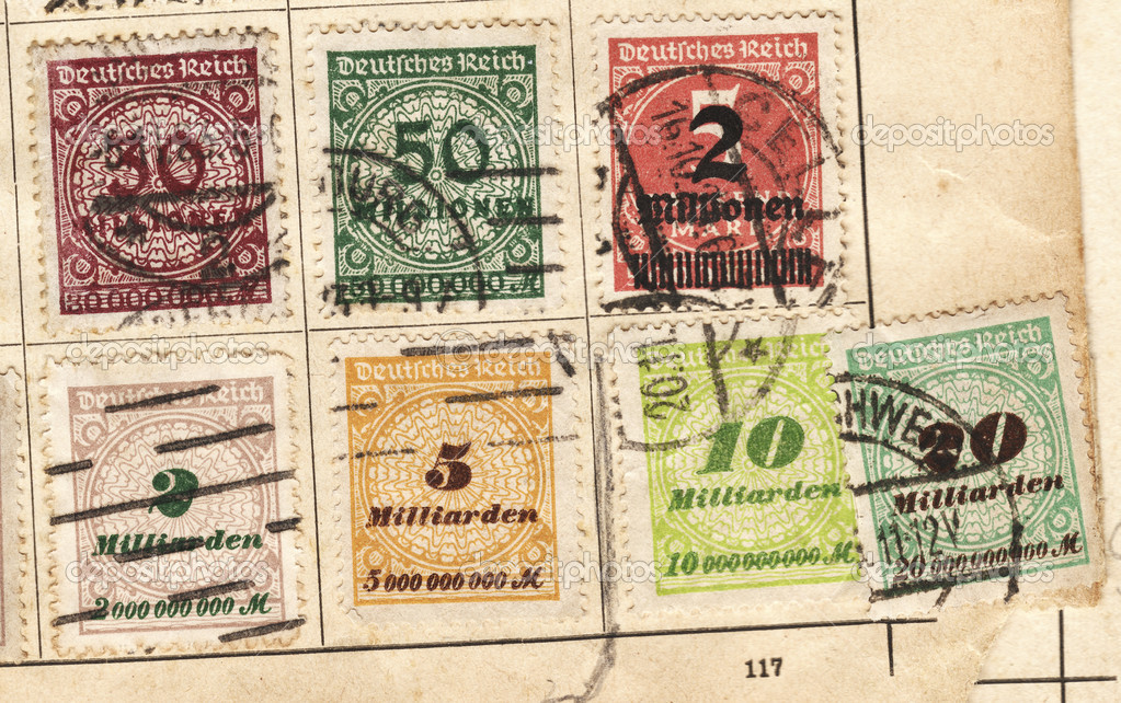 Close up of a stamp in time of inflation — Photo #10093729