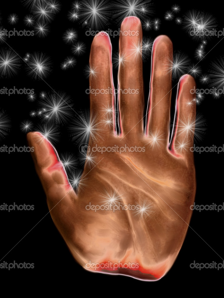 Digital painting of a hand  Stock Photo #10095604