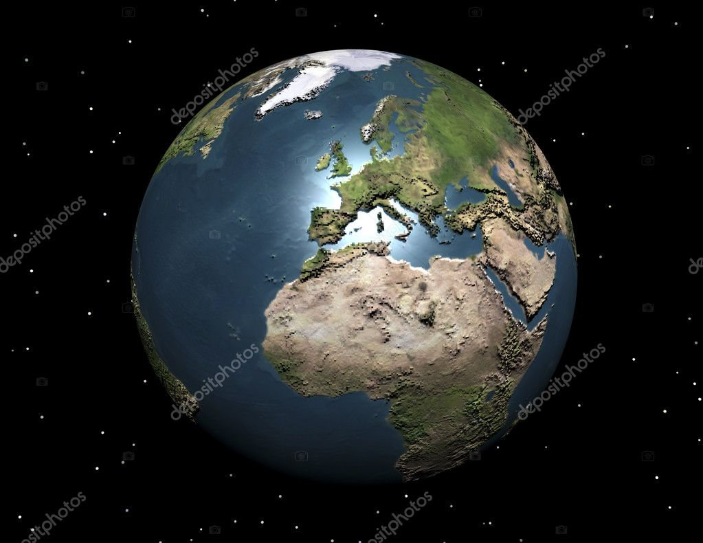 Digital visualization of the earth — Stock Photo #10096497